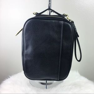 Phillip Lim target black leather wristlet handbag